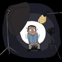 Nervous Man on Camera